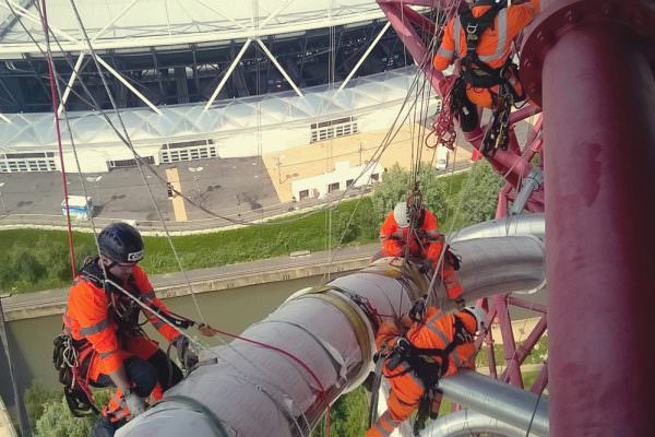 High Level Rigging - Orbit Tower Slide - London
