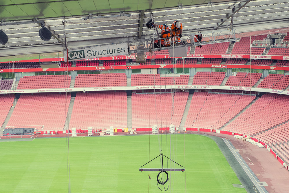 Emirates Stadium LED lighting installation