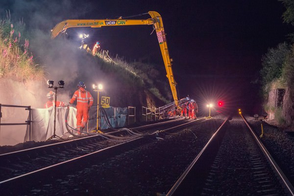 Rock Face Stabilisation - Hagley Railway Cutting