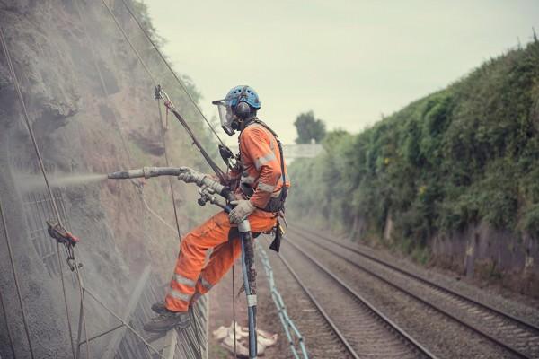Hagley railwRock Face Stabilisation - Hagley Railway Cutting ay cutting