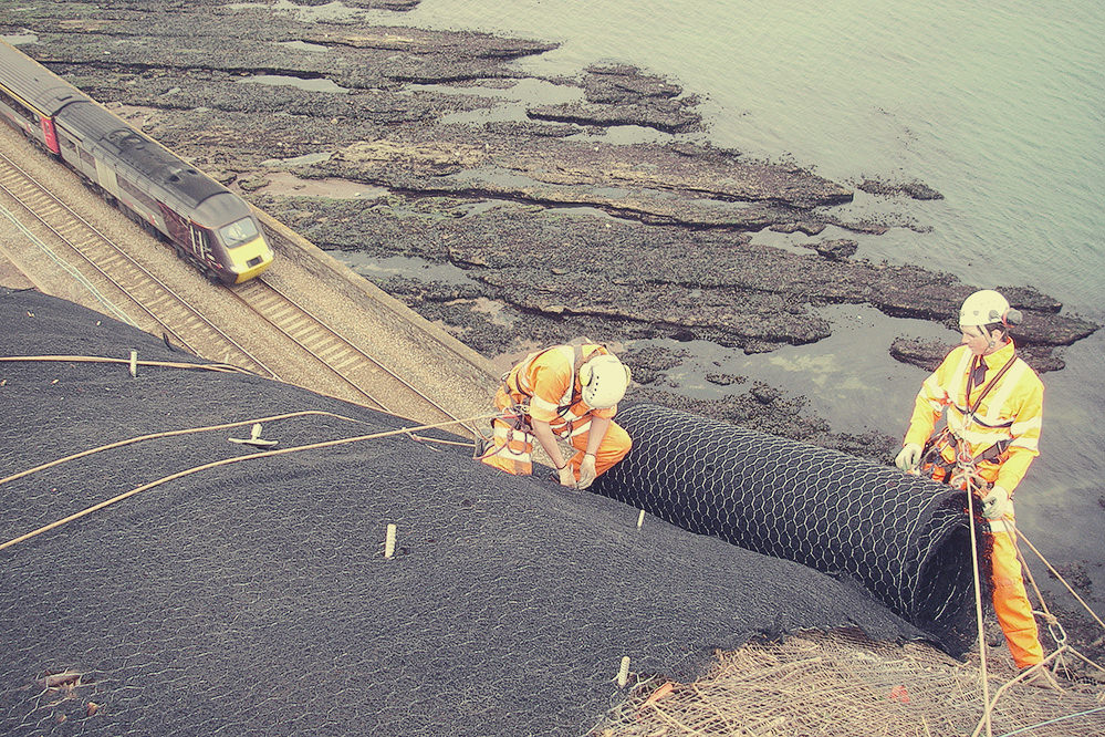 Slope facing systems installation