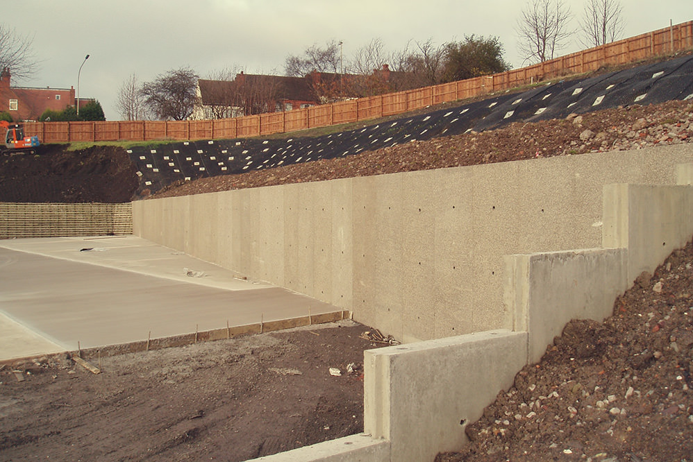 Slope stabilisation solution - Dudley