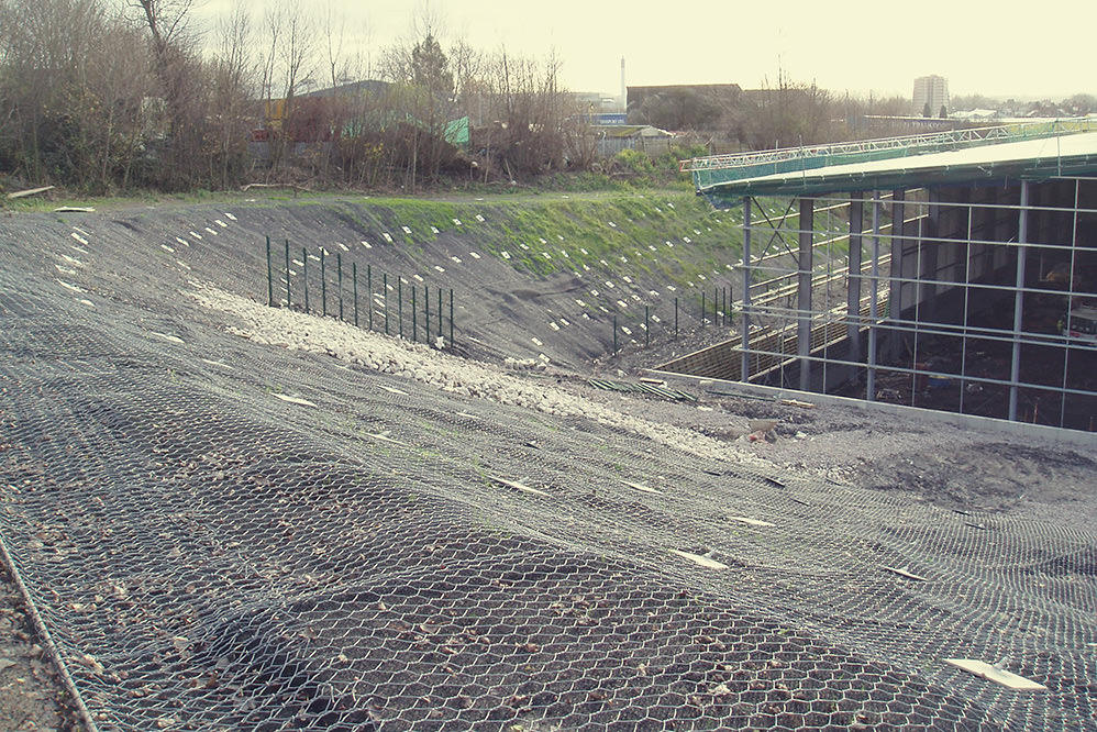 Dudley - Design and Build slope stabilisation solution