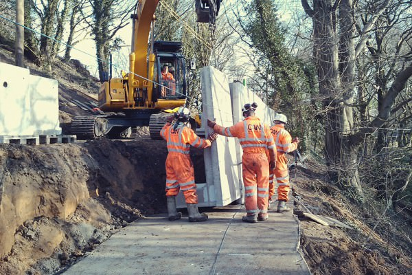 Retaining Wall Construction and Landslip Remediation-Hagg Bank