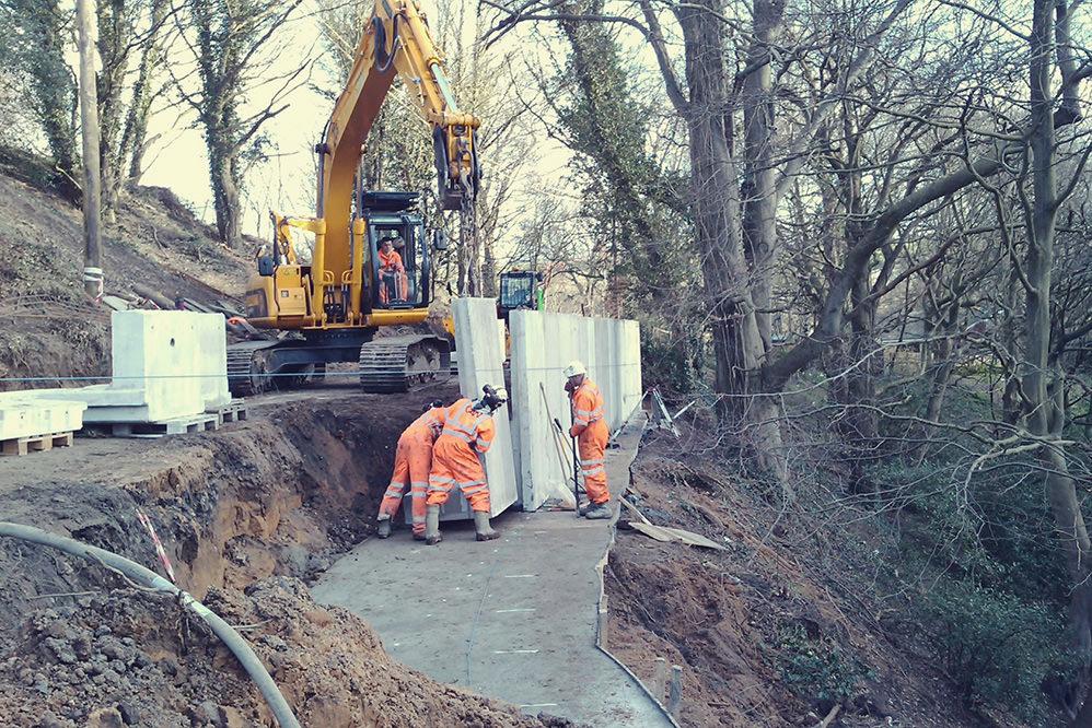 Hagg Bank - Retaining Wall Construction & Landslip Remediation Solution