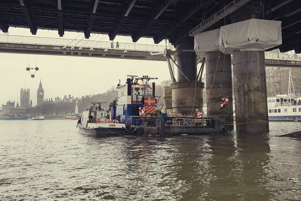 Hungerford Bridge Pier Repairs