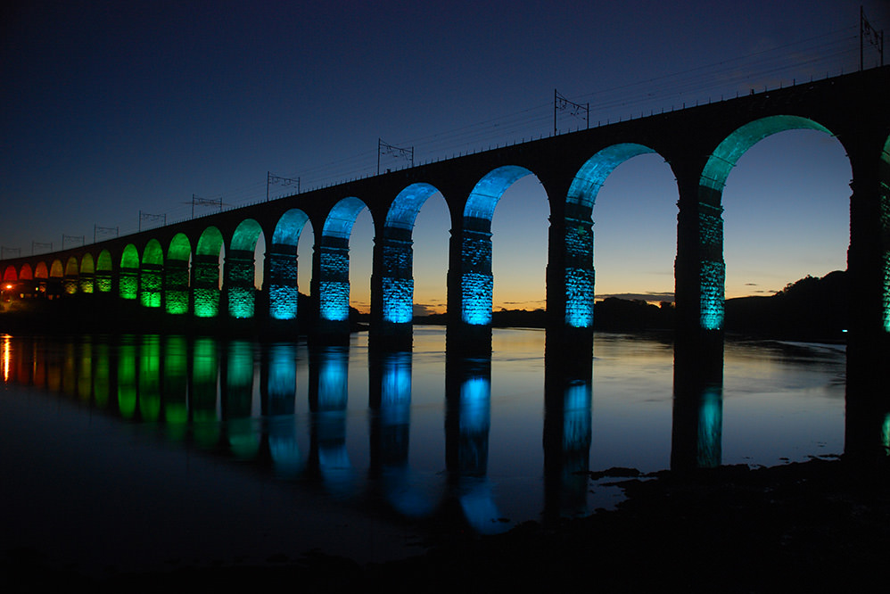Royal Border Bridge Lighting Installation