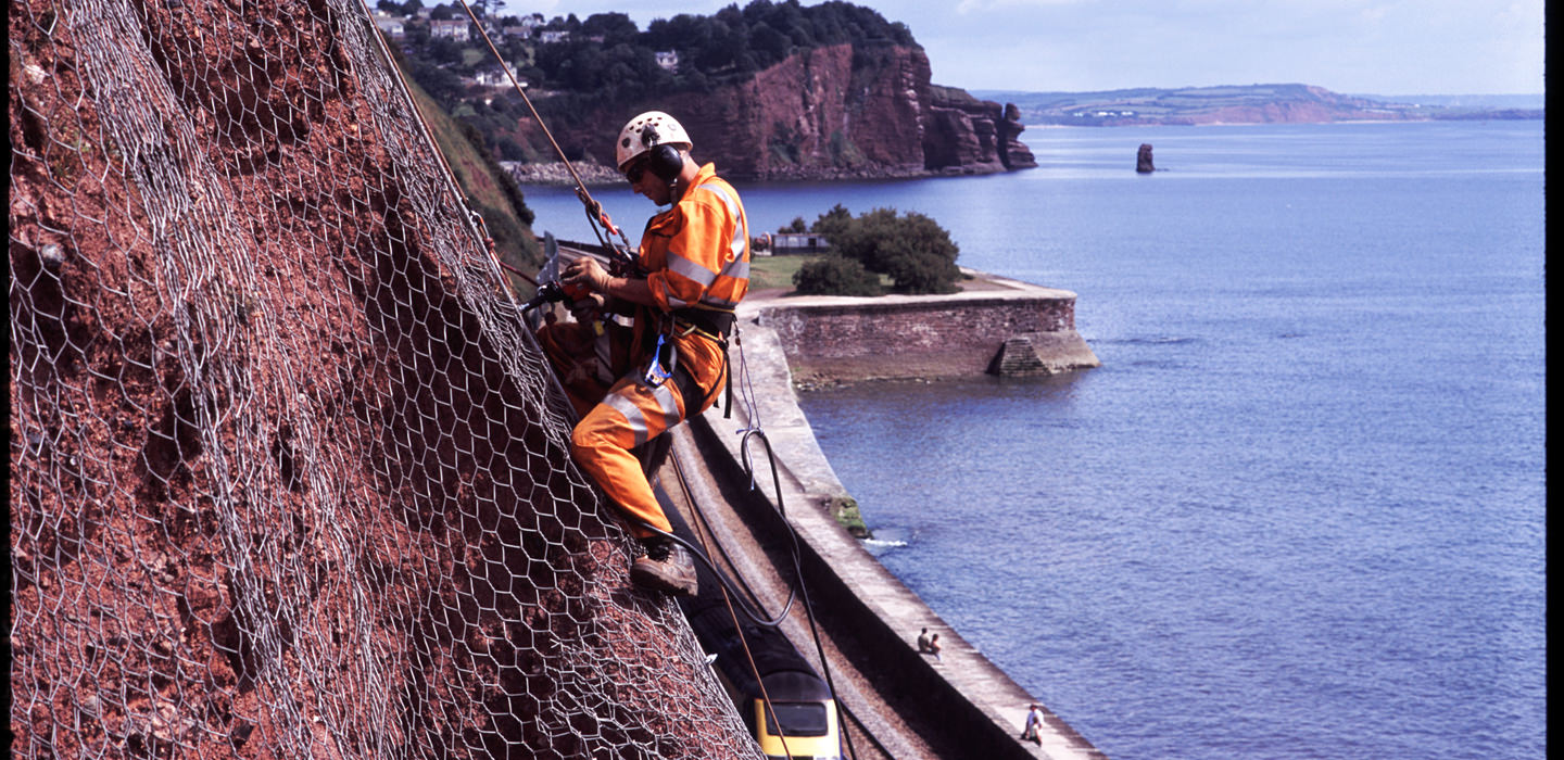 CAN feature on BBC Spotlight News for the inspection on Dawlish sea cliffs.