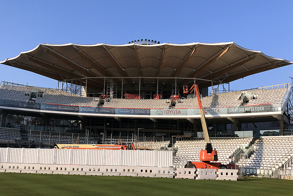 Lords Cricket Ground - Fabric Roof Installation
