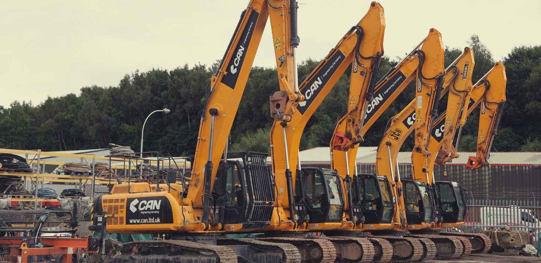 CAN excavators