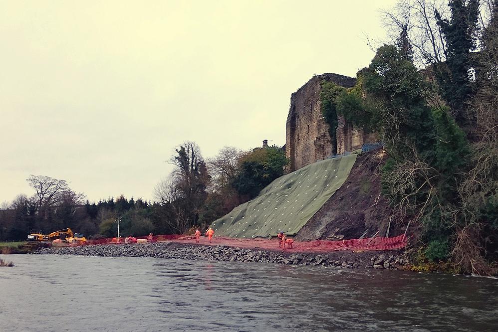Cockermouth Castle - Slope Stabilisation