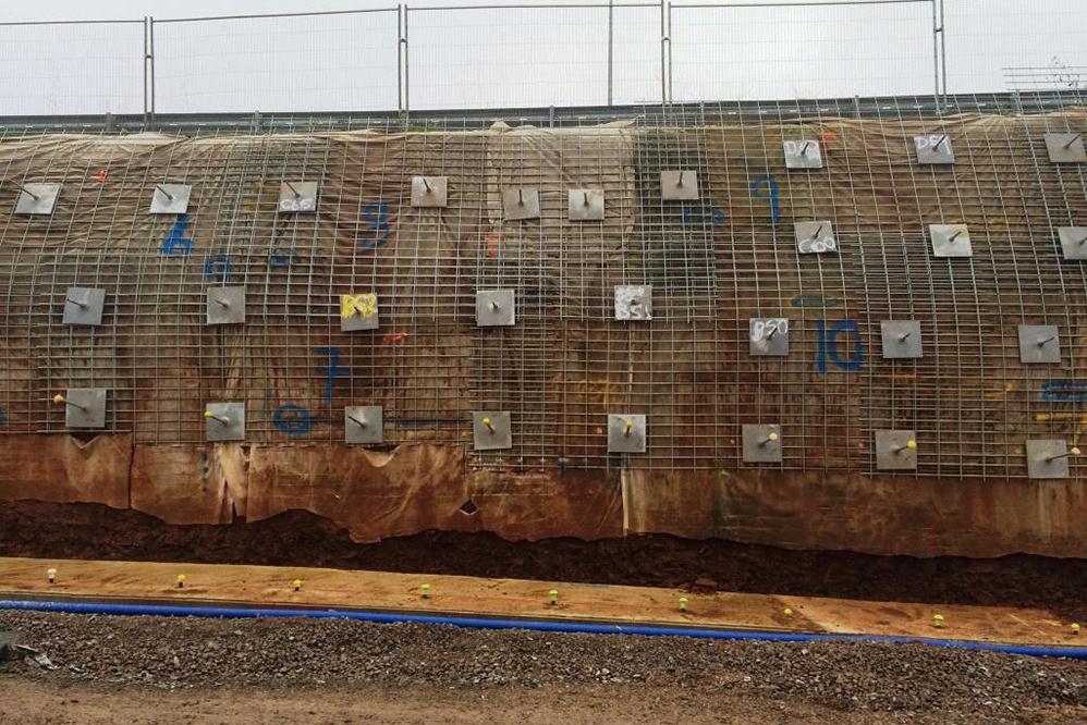 Soil Nailing, Sprayed Concrete & Gabion Facing - Toll Bar