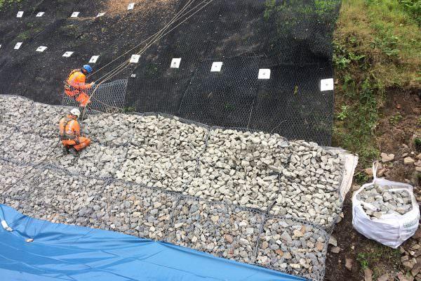 Todmorden - Reno mattress installation and soil nails