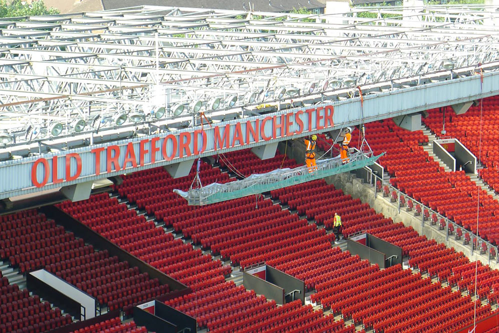 Manchester United Old Trafford Football Stadium - cladding & steelwork repairs