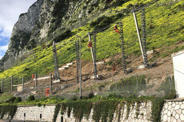 Gibraltar Eastside Catch Fencing Phase 1B