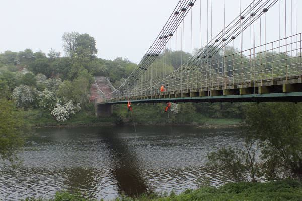 Union Chain Bridge - Structural Inspection & TestingUnion Chain Bridge - Structural Inspection & Testing