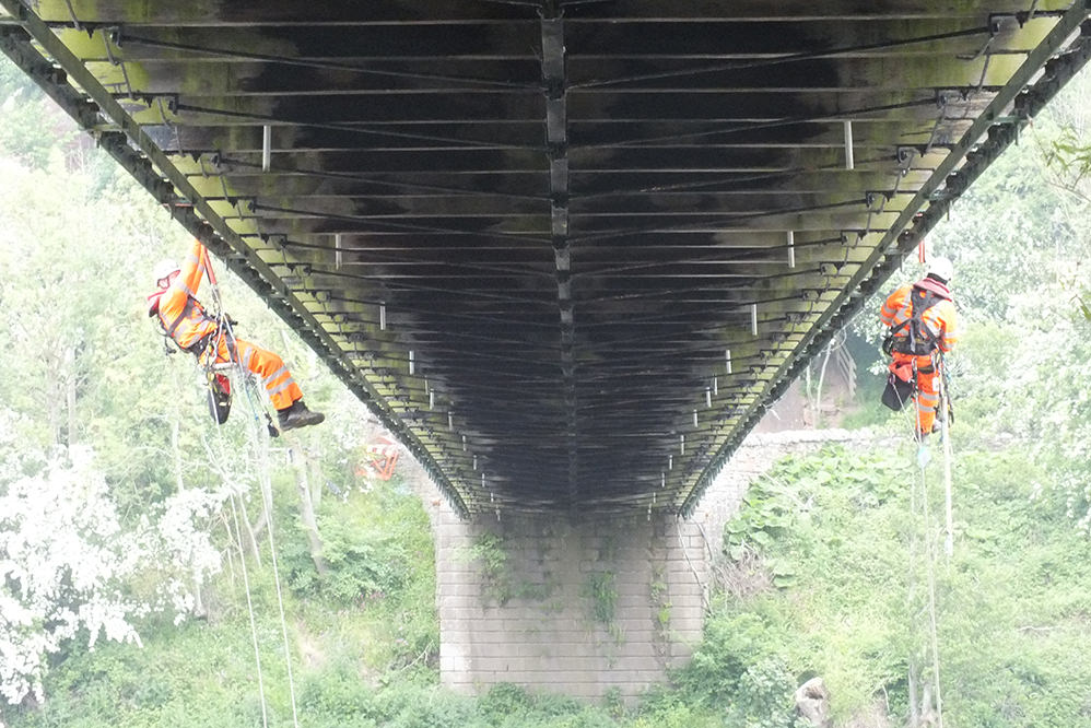 Union Chain Bridge - structural inspection & testing