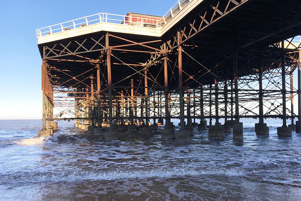 Cromer Pier - steelwork inspection