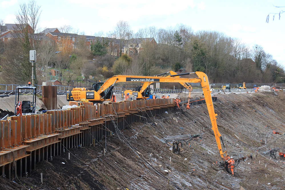 Ashley Hill South Embankment - earthworks projects