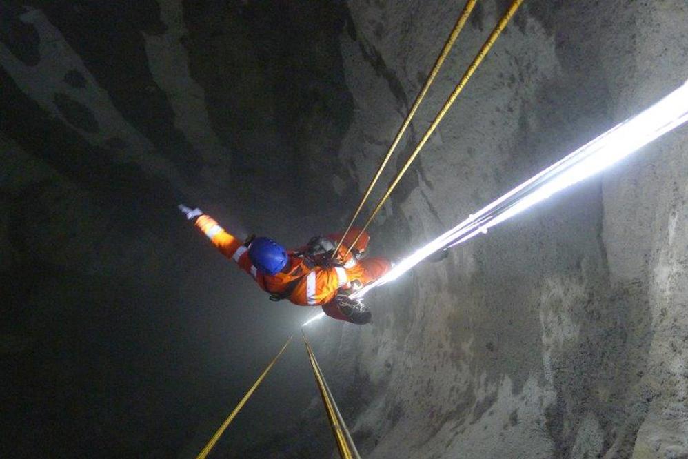 Georgia - deep pressure relief shaft inspection