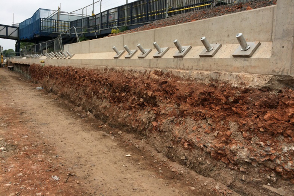 Filton Abbey Wood - Retaining Wall Construction