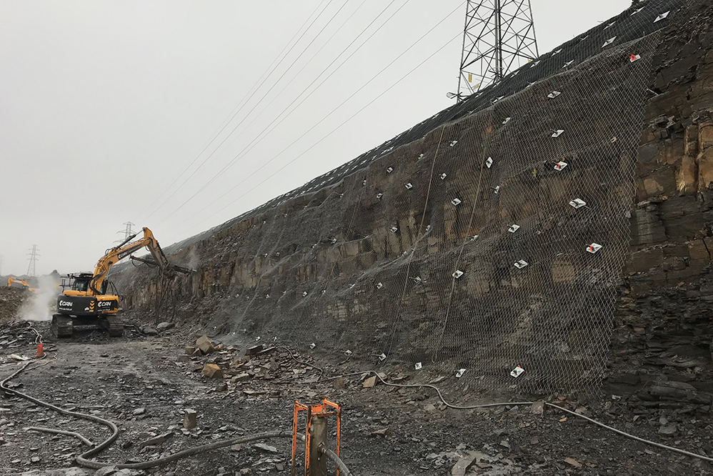 Soil Nails, rockfall netting, erosion matting, excavating, earthworks, temporary works, drilling, slope stabilisation
