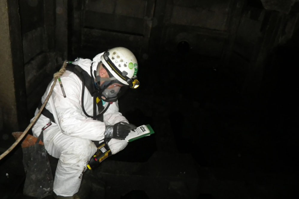M2 Motorway Soakaways - Confined Space Inspection