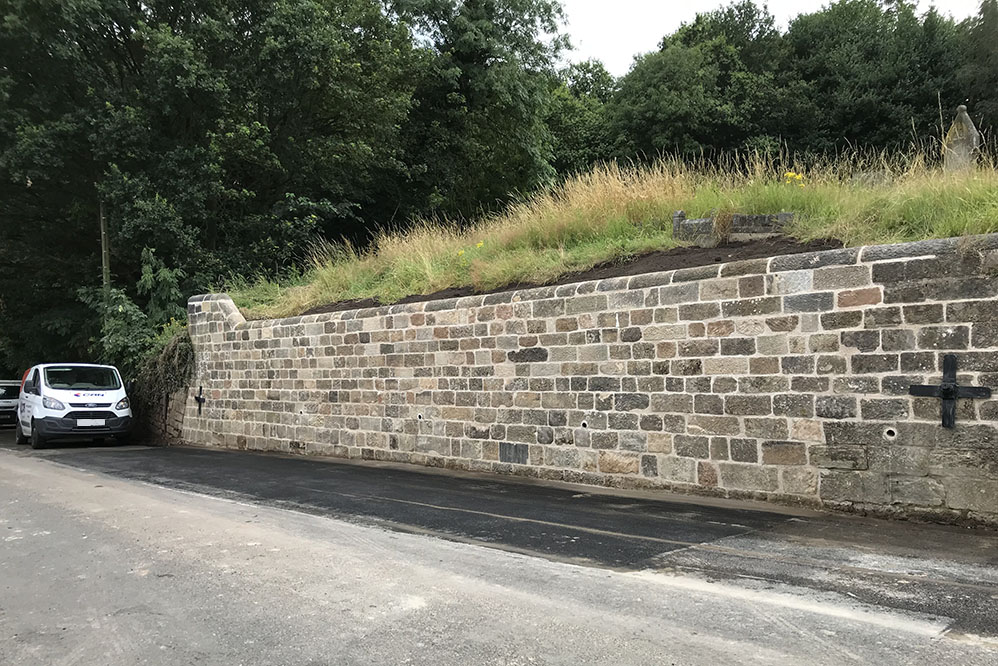 Holbrook Church - Retaining Wall Stabilisation