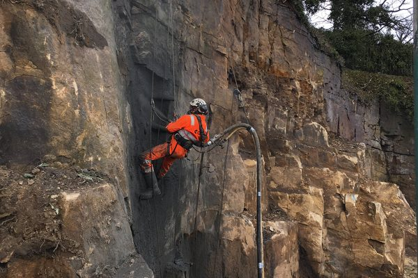 Langsett Water Treatment Works - Rock Face Stabilisation