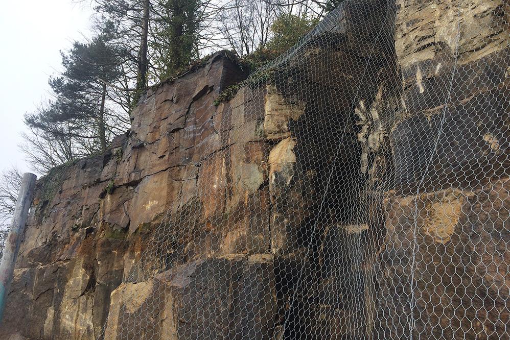 Langsett Water Treatment Works - Rock Face Stabilisation