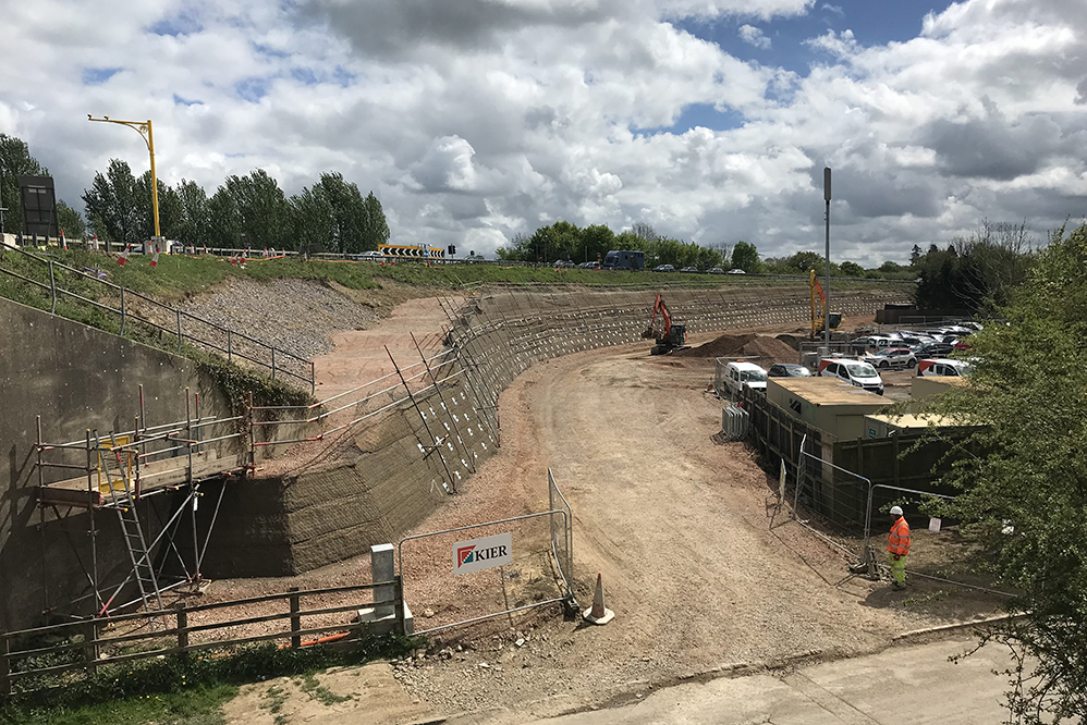 M23 Smart Motorways Programme - Embankment Works