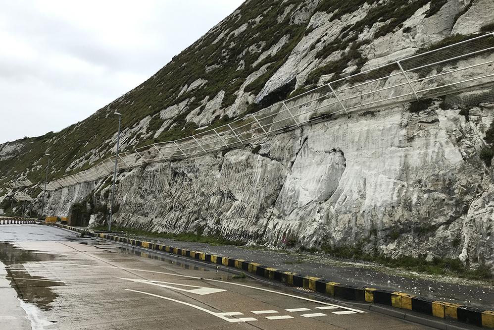Rockfallcatch fence installation at thePort of Dover