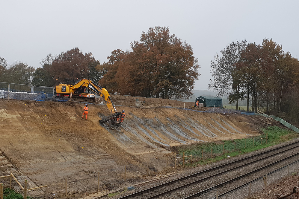 Little Browns Railway Cutting - Slope Stabilisation
